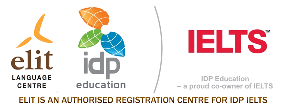 ELIT is an authorised registration centre for IDP IELTS